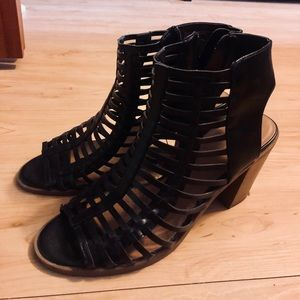 Cage style chunky heels